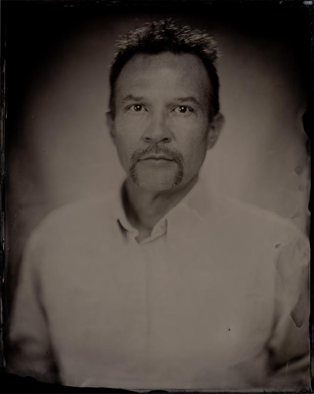 wet plate collodion portrait of homeless man james