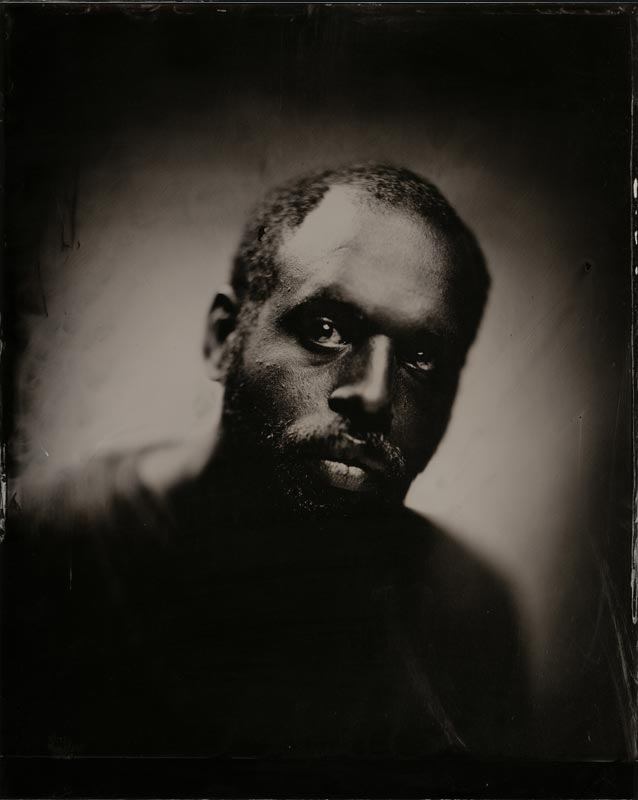 wet plate collodion portrait of homeless man jason