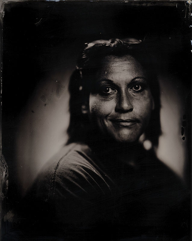 wet plate collodion portrait of homeless woman jenny