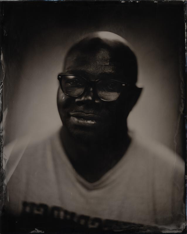 wet plate collodion portrait of homeless man jerome