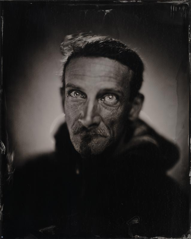 wet plate collodion portrait of homeless man joseph