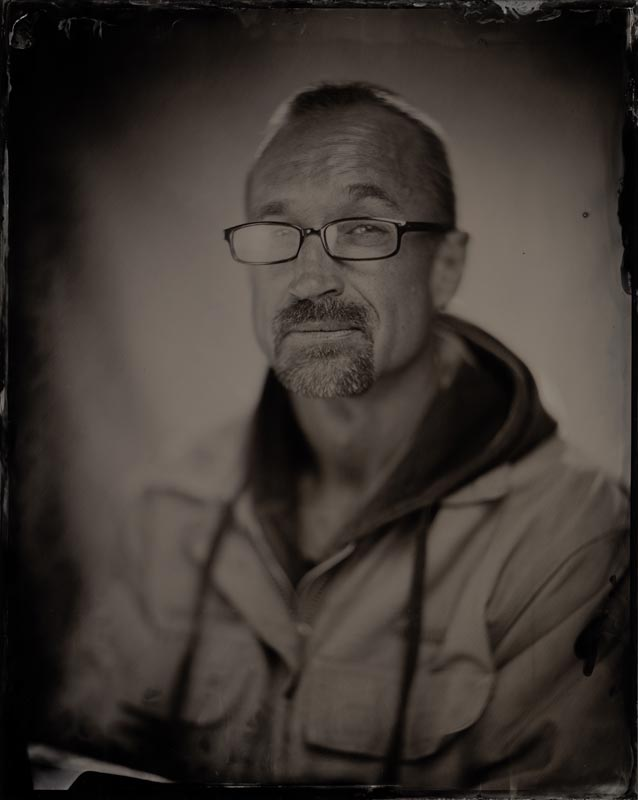 wet plate collodion portrait of homeless man patrick