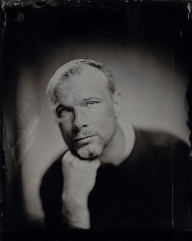 wet plate collodion portrait of homeless man terry