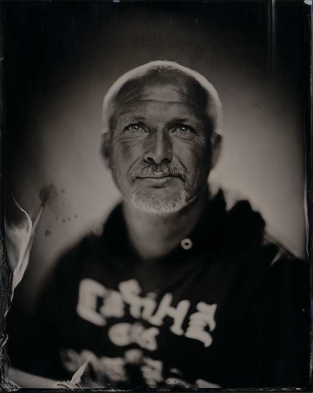 wet plate collodion portrait of homeless man william